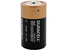Duracell Duralock MN1300 D-cell 1.5V Alkaline Button Top Battery - Made in the USA - Retail Packaging