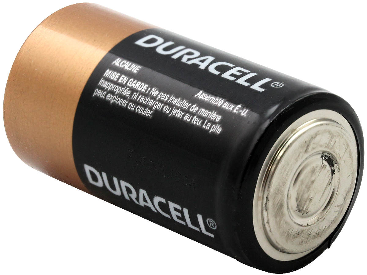 Duracell Duralock MN1400 C-cell 1.5V Alkaline Button Top Battery - Made in the USA - Retail Packaging, Sold Individually