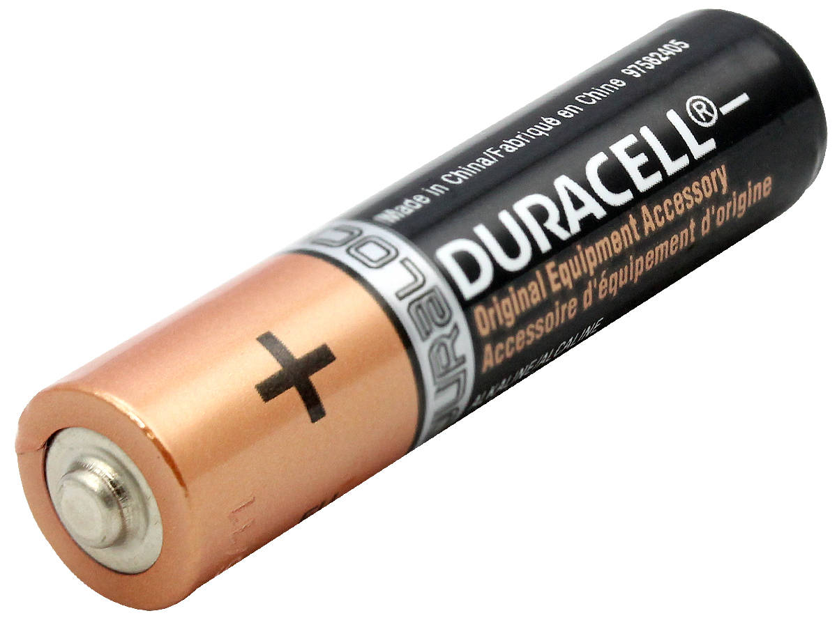 Duracell Duralock MN2400 AAA 1.5V Alkaline Button Top Battery - Made in China - Bulk
