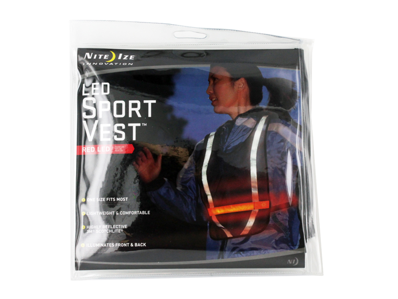 Nite Ize L.E.D. Sport Vest  Be Seen & Be Safe! NRV2-08-10