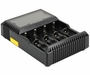 Nitecore Digicharger D4 4-Channel Smart Battery Charger for Li-ion, Ni-Cd, and NiMH Batteries