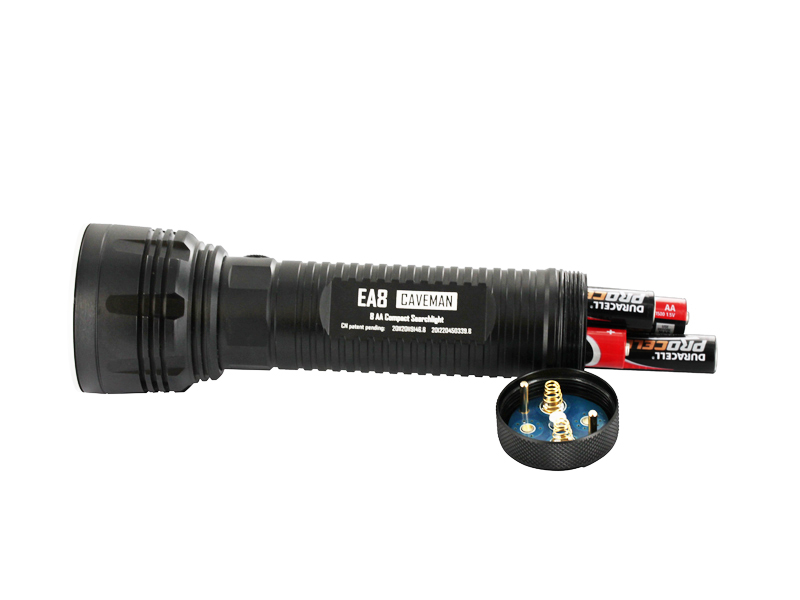 Nitecore Explorer EA8 Caveman Searchlight - CREE XM-L U2 LED - Cool White - 900 Lumens - Uses 8 x AAs