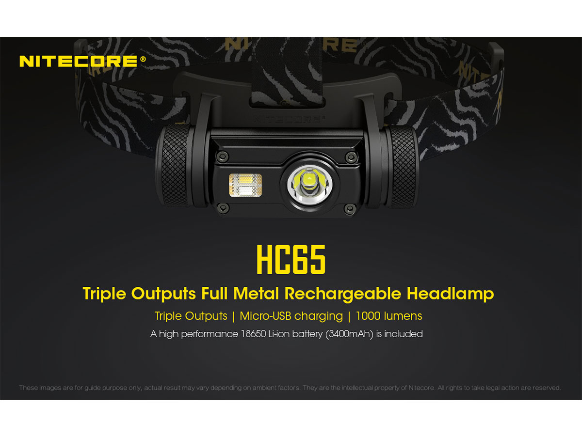 NITECORE HC65 Triple Output LED Headlamp