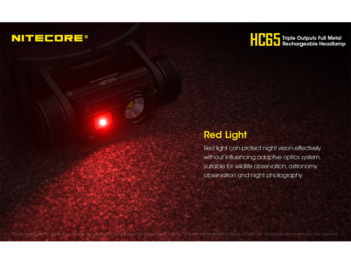 NITECORE HC65 red light
