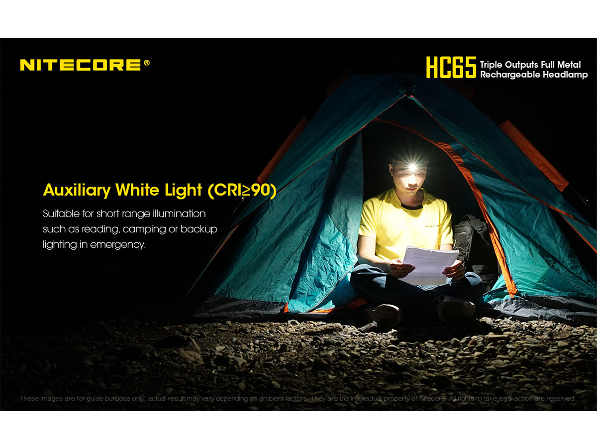 NITECORE HC65 high CRI auxilary light