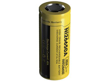 Nitecore IMR 26650 4200mAh 3.7V Unprotected High-Drain 40A Lithium Manganese (LiMn2O4) Flat Top Battery - Retail Card