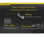 Nitecore Intellicharge F1 Smart Battery Charger for Li-ion, IMR Batteries - Single Bay