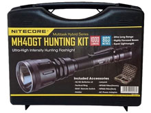 Nitecore MH40GT 1000 Lumen LED Flashlight Night Hunting Kit with GM02 Weapon Mount, RSW1 Pressure Switch, NFR60 Red Filter, NFG60 Green Filter - Fits Picatinny Railed Guns
