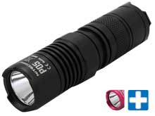 Nitecore Precise P05 Flashlight - CREE XM-L2 U2 LED - 460 Lumens - Uses 1 x CR123A or 1 x RCR123A - Black or Pink