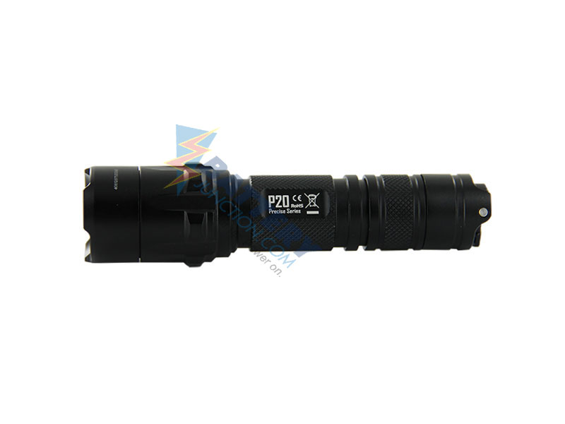 Nitecore Precise P20 Tactical Flashlight - CREE XM-L2 T6 LED - 800 lumens - Uses 1 x 18650 or 2 x CR123As