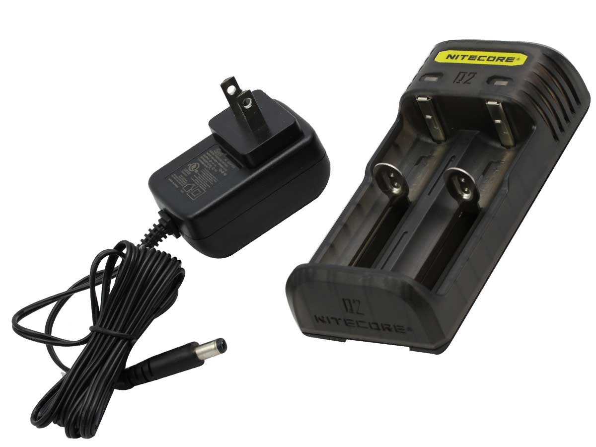 Nitecore Q2 2-Bay Quick Charger for Li-Ion, IMR Batteries - Comes in a Variety of Colors