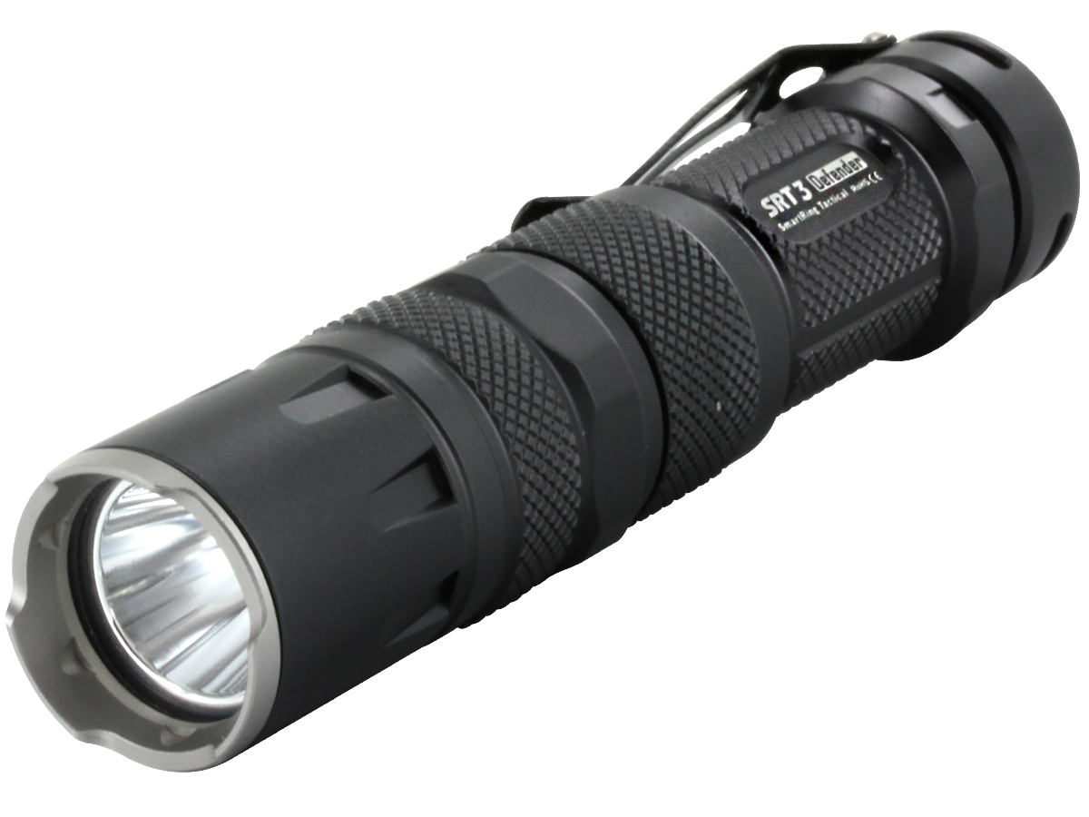 Nitecore SRT3 Defender LED Flashlight - 550 Lumens - CREE XM-L2 T6 LED - Grey Finish