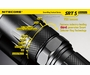 Nitecore SRT5 Detective LED Flashlight with CREE XM-L2 T6 LED - 750 Lumens - Runs on 2 x CR123As or 1 x 18650 - Grey Finish