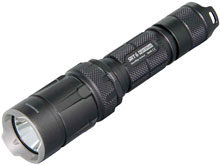 Nitecore SmartRing Tactical SRT 6 Night Officer Flashlight - CREE XM-L2 White LED - Red, Green and Blue LEDs - 930 Lumens - Uses 1 x 18650 or 2 x CR123As - Grey