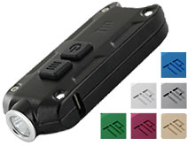 Nitecore TIP USB Rechargeable Keylight - CREE XP-G2 S3 LED - 360 Lumens - Built-in Battery Pack - Many Colors Available