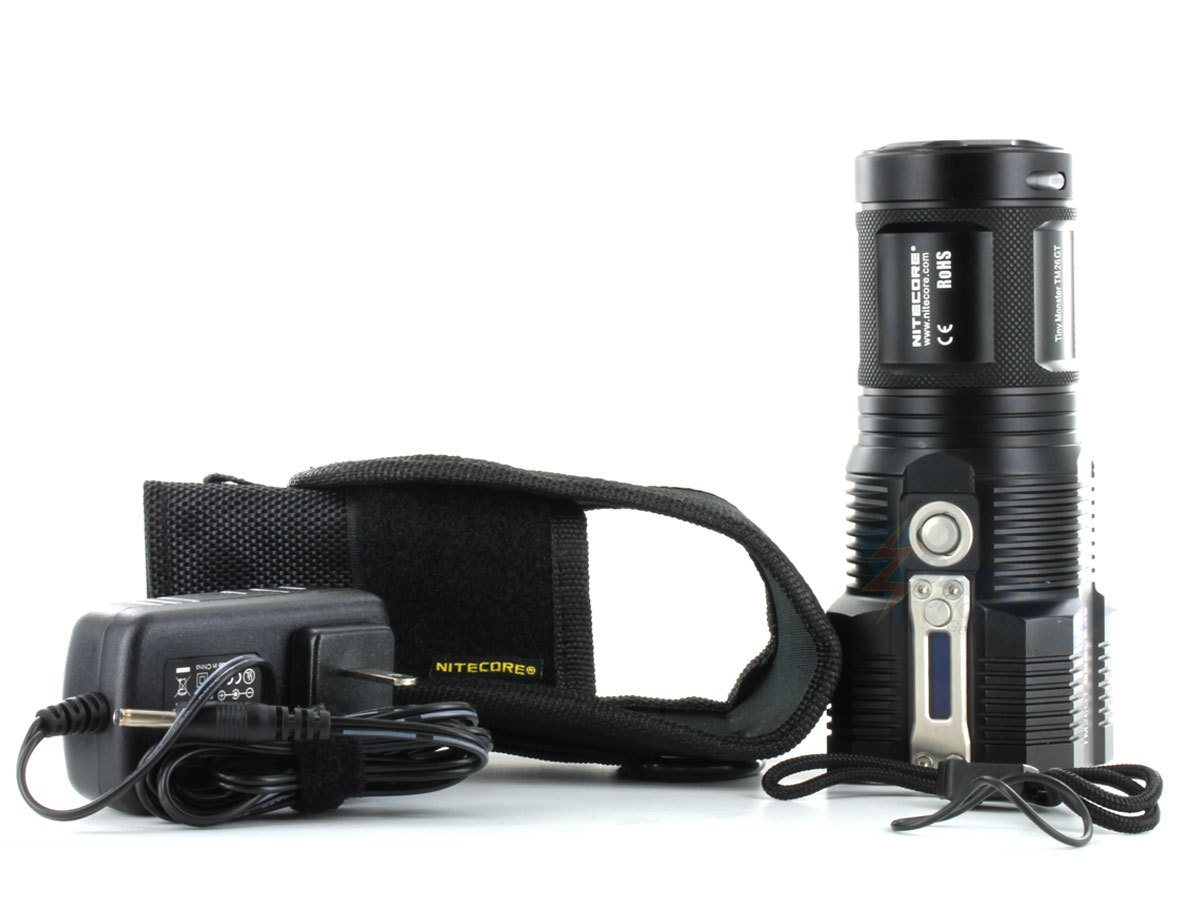 Combo: Nitecore Tiny Monster TM26GT Flashlight Kit - 4 x CREE XP-L HI V3 LEDs - 3500 Lumens - Includes 4 x NL183 18650s