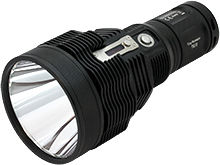 Black LED flashlight