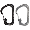 Nite Ize SlideLock Carabiner - Stainless Steel with Slide-to-Lock Design - #2 - Black (CSL2-01-R6) or Stainless (CSL2-11-R6)
