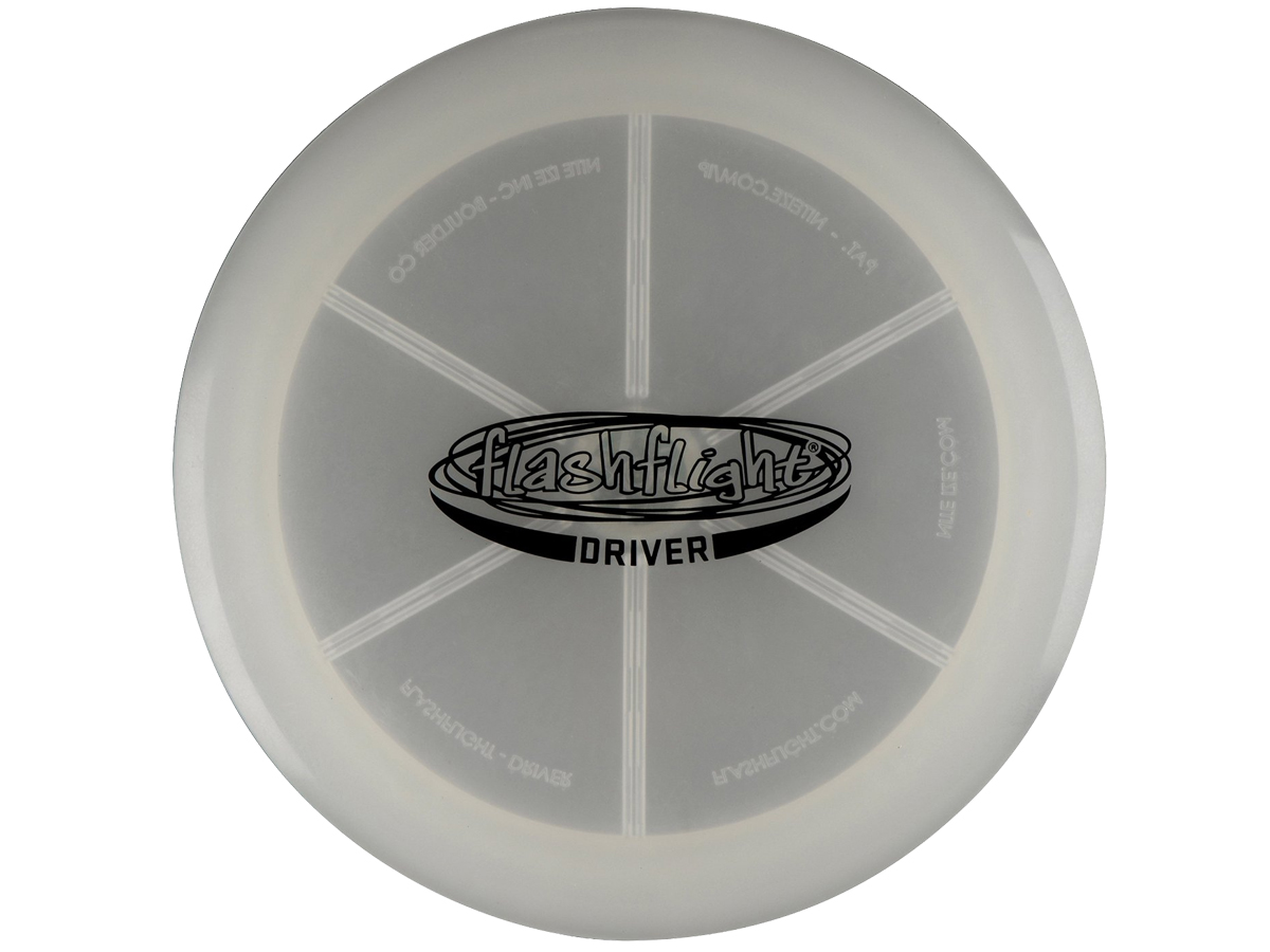 Nite Ize Flashflight LED Disc Golf Discs - Driver, Mid Range or Putter - Includes 2 x CR2016s - Sold Individually or as a Set