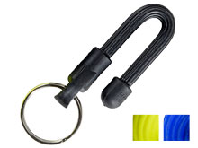 Nite Ize Gear Tie Key Ring Black, Blue, or Yellow