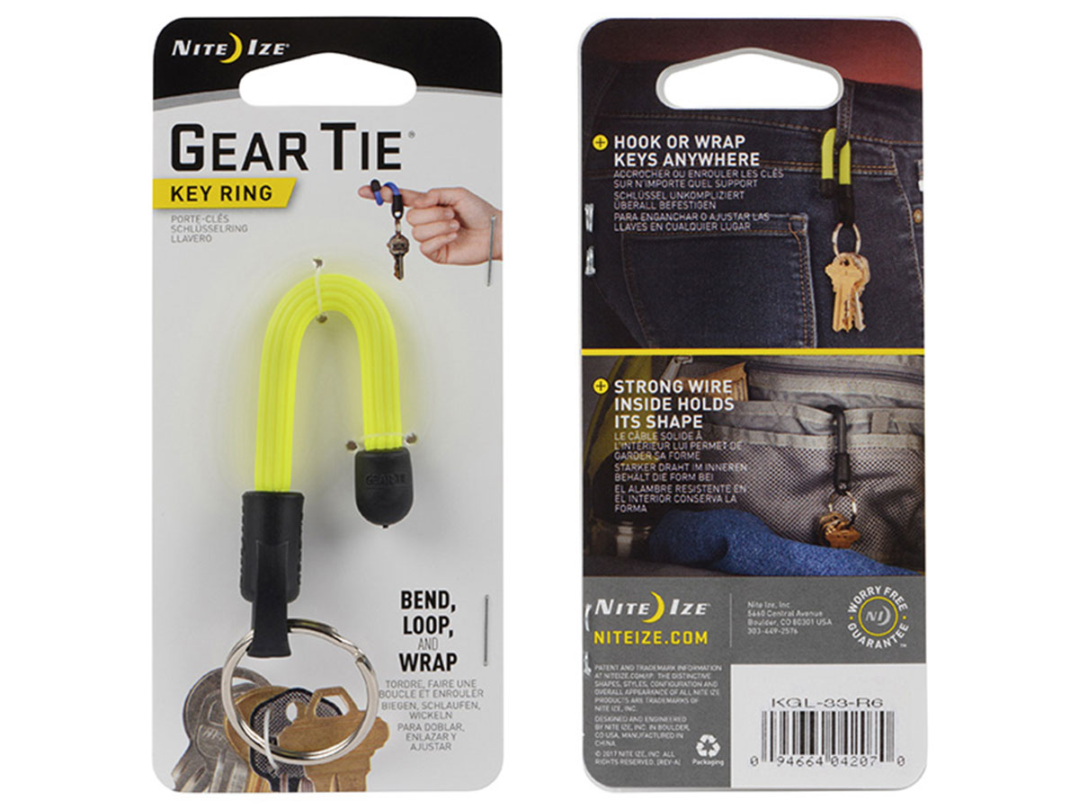 Yellow Gear Tie in Retail Card