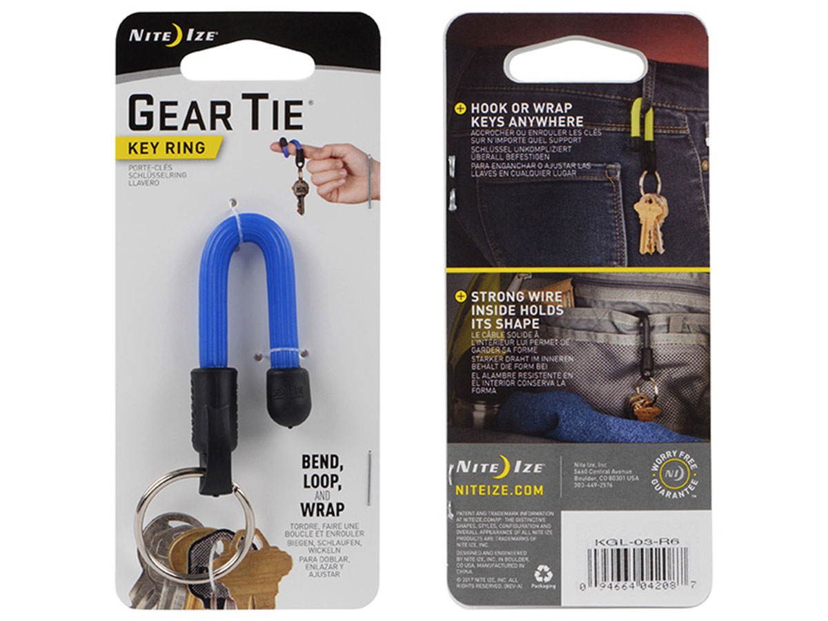 Blue Gear Tie in Retail Card