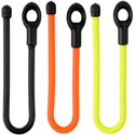 Nite Ize Gear Tie Loopable Rubber Twist Tie with Loop on End - 6-Inch - 2 Pack - Black, Orange or Neon Yellow