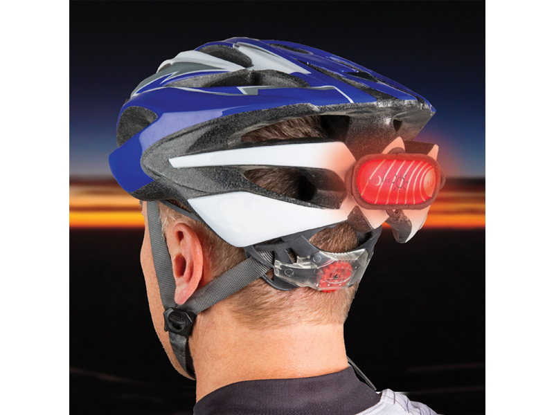 Nite Ize Helmet Marker Plus with Hook-and-Loop Strips - Red LED - Includes 1 x CR2032 (HMP-03)