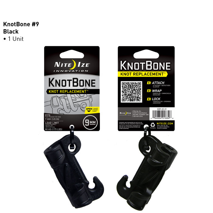 Nite Ize KnotBone Knot Replacement - Fits 9mm Cords - Black (KB9-02-01)