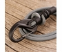 Nite Ize KnotBone Adjustable Bungee #5 with Carabiner Clips - 5mm Cord - 6 to 28 Inches - Grey (KBB5-03-01)