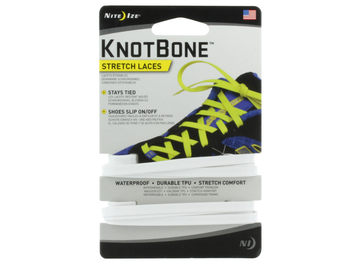 Nite Ize KnotBone Stretch Laces for Shoes - 54-Inch - 2 Pack - Many Colors Available