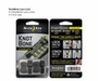 Nite Ize KnotBone LaceLock for Stretch Laces - Includes 2 x Lace Caps - 2 Pack - Black (KLL-03-2PK01)