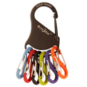 Nite Ize KeyRack - Stainless Steel Carabiner with 6 x Plastic #0 S-Biner Carabiner Clips - Black with Colorful Clips (KRK-03-01)