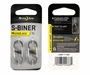Nite Ize S-Biner MicroLock - Stainless Steel Double-Gated Carabiner with Twisting Lock - 2 Pack - Black (LSBM-01-2R3) or Stainless (LSBM-11-2R3)