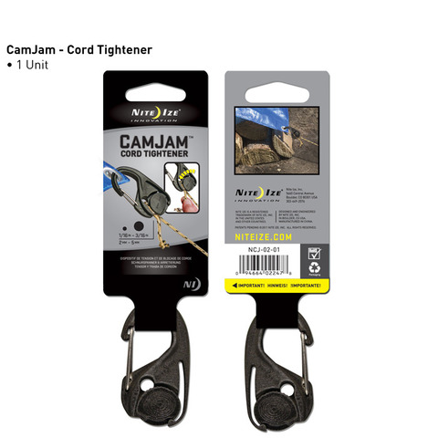 Nite Ize CamJam Cord Tightener - Single Pack - Black (NCJ-02-01)