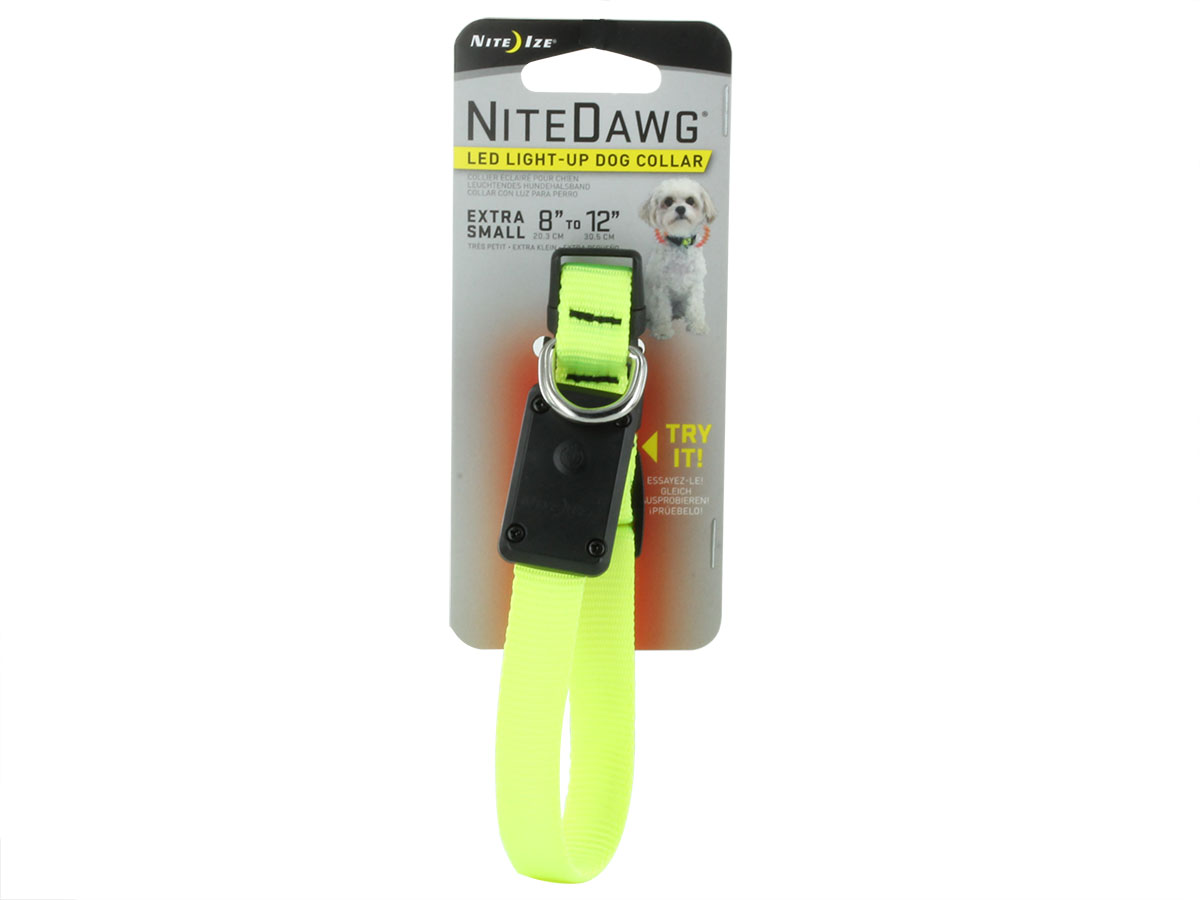 Nite Ize Nite Dawg LED Light Up Dog Collar - XS, Small, Medium or Large - Many Colors Available