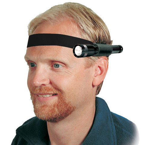 Nite Ize Headband Mini-Flashlight Holder for AAA, AA or CR123A Lights - Black (NPO-03-01)