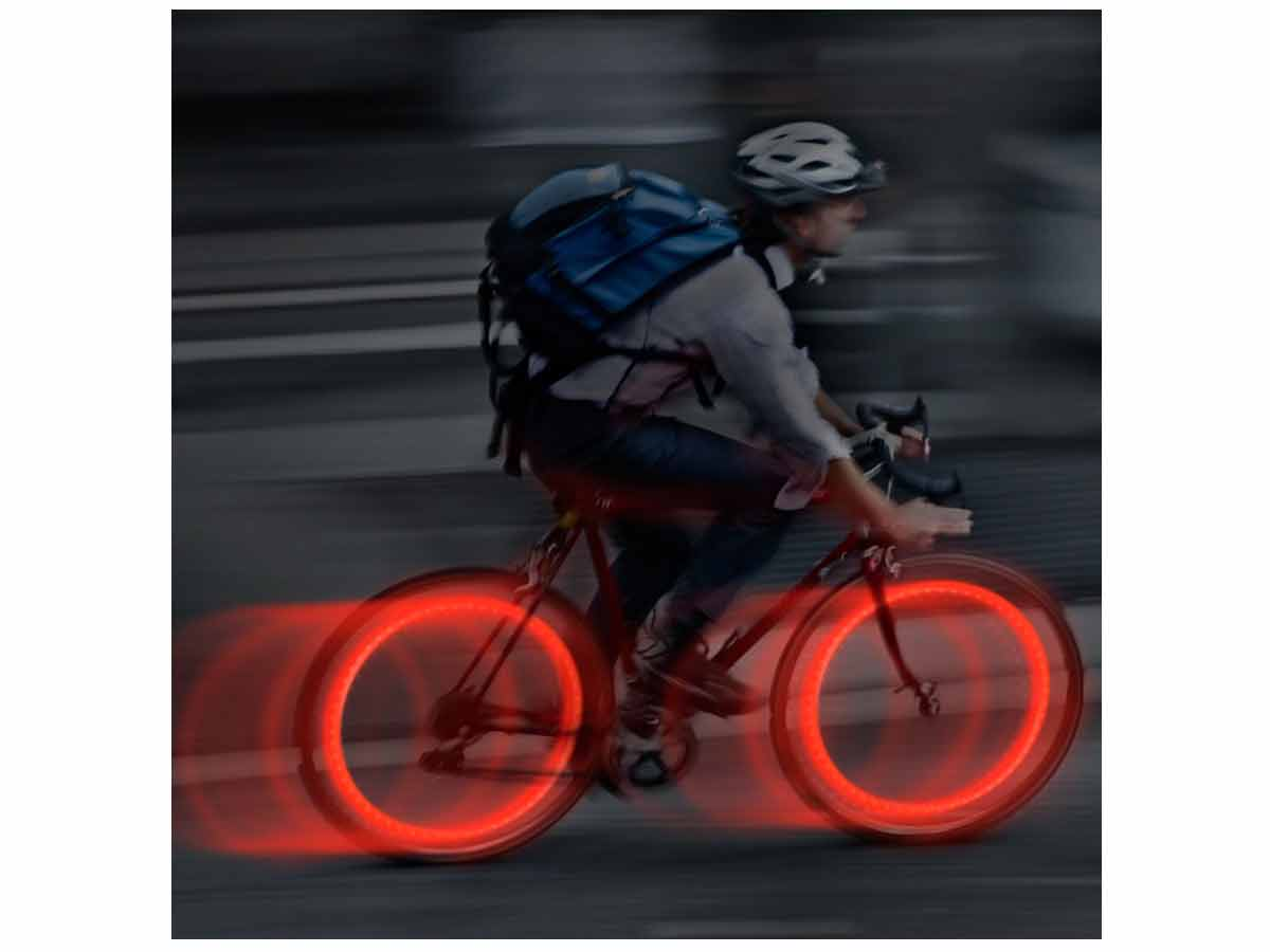 Nite Ize See'Em Mini LED Spoke Lights for Bicycle Wheels - Includes 4 x CR927 - 4 Pack - Assorted Colors (NSE-A1-4R3)