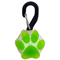 Nite Ize PetLit LED Collar Light with Carabiner Clip - White LED - Includes 1 x CR927 - Paw Green (PCL02-03-17PA)