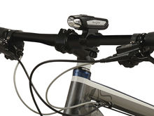 Shot of the Nite Ize Radiant 750 Bike Light Attached to Handle Bars