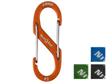 Nite Ize S-Biner #2 Carabiner Blue, Charcoal, Lime, Orange