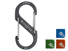 Nite Ize S-Biner #3 Carabiner Blue, Charcoal, Lime, Orange