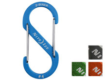 Nite Ize S-Biner #4 Carabiner Blue, Charcoal, Lime, Orange