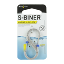 Nite Ize S-Biner Marine SlideLock - Stainless Steel Double-Gated Carabiner Clip - #2 - Stainless (SBML2-11-R6)
