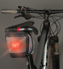 Nite Ize SaddleLite LED Bike Bag - Red LED - Includes 2 x CR2016s (SDL-M1-R3)