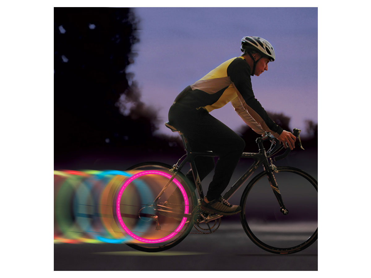 Nite Ize SpokeLit LED Wheel Light for Bikes - Includes 2 x CR2016s - 2 Pack - Disc-O (SKL-2PK-07)