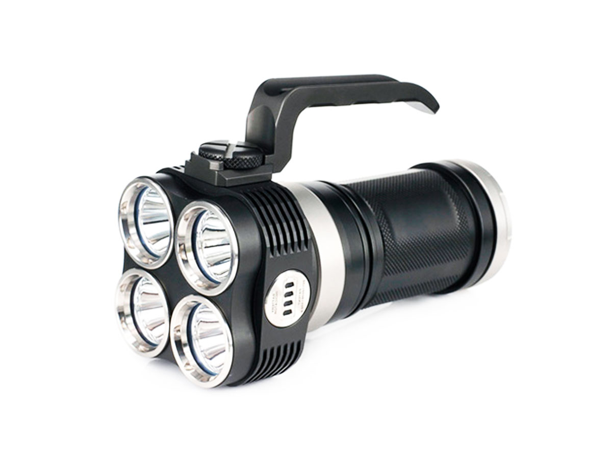 Niteye EYE40 Search Light - 4 x CREE XM-L2 (T6) LEDs - 3150 Lumens - Uses 4 x 18650