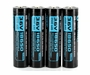 Olight ORB-186S35 HDC 18650 3500mAh 3.6V Protected High-Drain 10A Lithium Ion (Li-ion) Button Top Batteries for the X7 - 4 Pack Retail Card