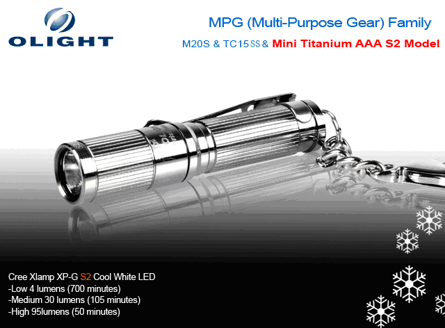 FREE Olight i3 With Order! Olight Multi Purpose Gear Set with M20S - TC15 - and Titanium AAA