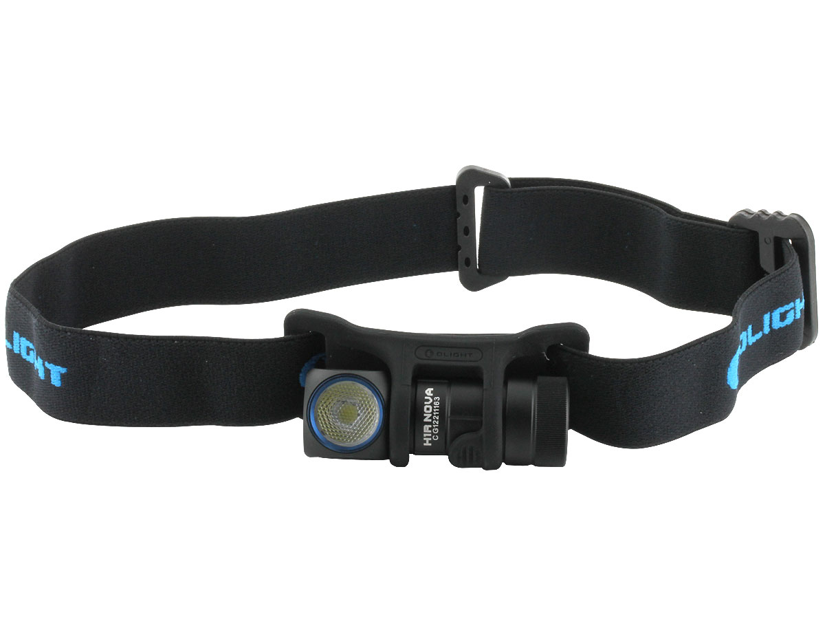 Olight H1R Nova Rechargeable Right Angle Headlamp - CREE XM-L2 LED - Cool or Neutral White - 600 Lumens - Includes 1 x 16340